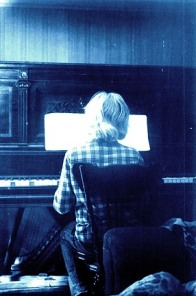 me at our old piano... very early days!